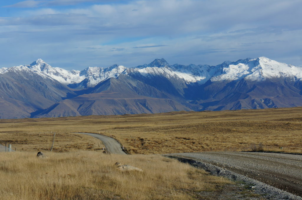 Mt Cook scenic drive NZ